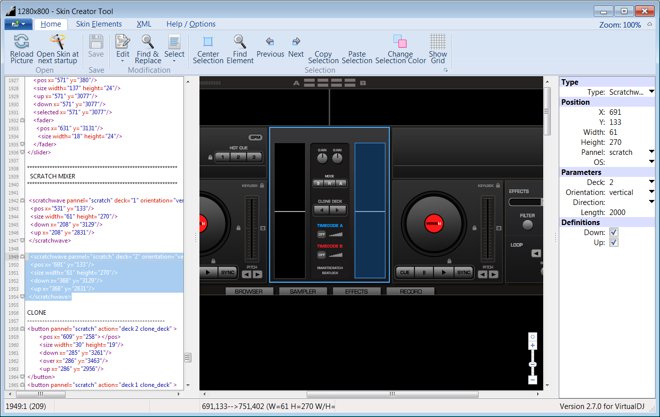 Skin Creator Tool for VirtualDJ - Software Design & Development by