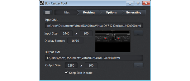 Skin Resizer Tool for VirtualDJ - Software Design & Development by
